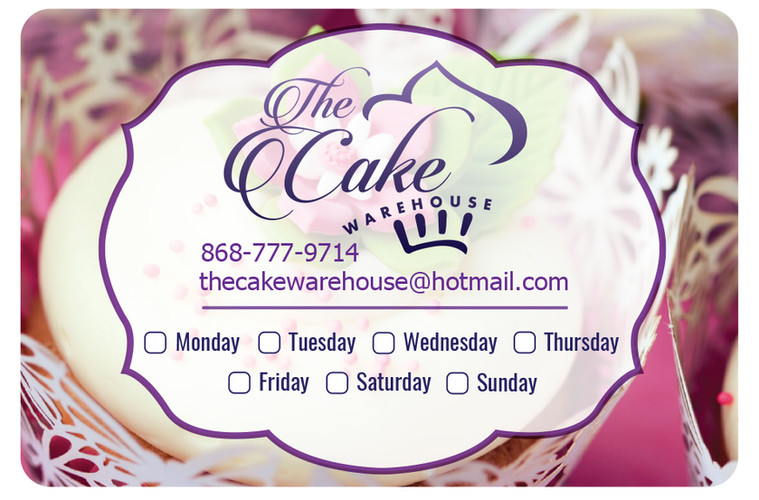 The Cake Warehouse Digital Label
