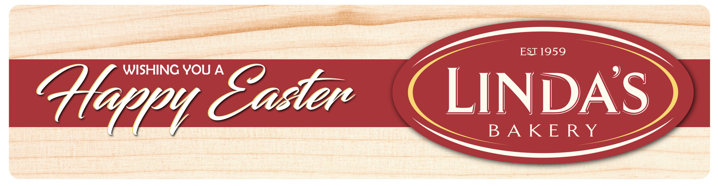 Linda's Bakery (Happy Easter) - Flexo Label