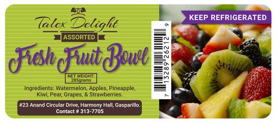 Talex Delight (Fruit Bowl) Digital Label