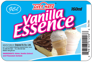 Chef Mate Vanilla Essence - Flexo Label