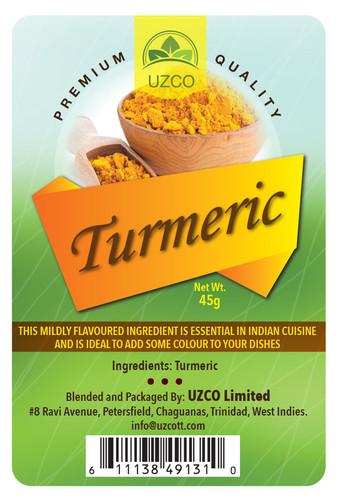 Uzco Tumeric Digital Label