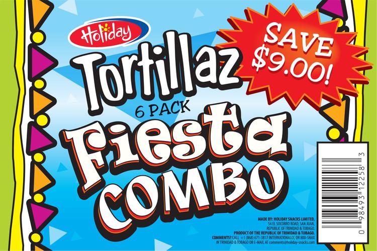 Holiday Snacks Tortillaz Fiesta Combo  - Flexo Label