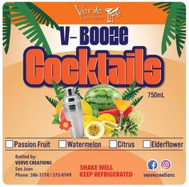 V-Booze Cocktails - Flexo Label