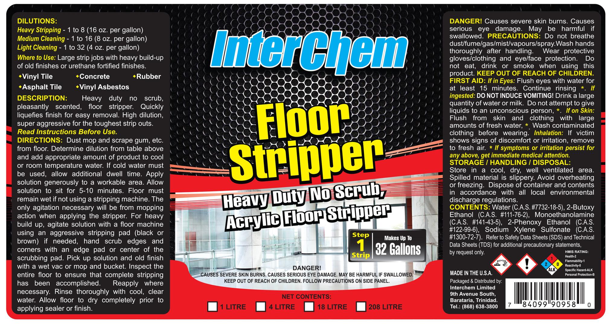 Inter Chem - Floor Stripper (Layout) - Flexo Label