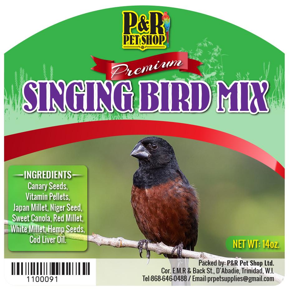 P&R Pet Shop (Singing Bird Mix 14oz) Digital Label
