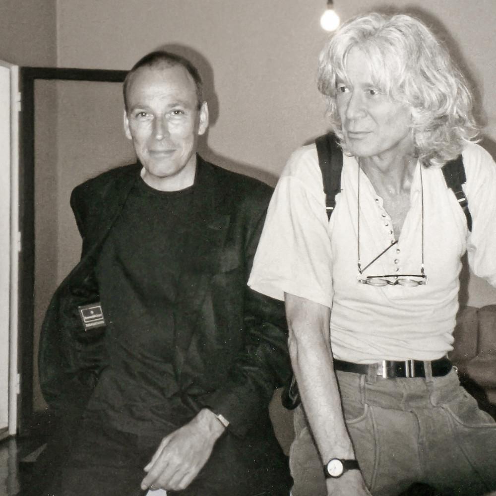 Octave et Hervé, à la fondation Le Corbusier
