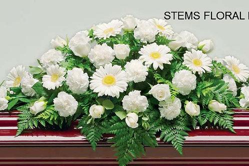 ST44 Casket Spray - All White Flowers
