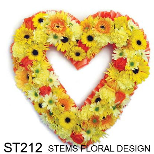 ST212 Open Heart - mixed yellow and orange