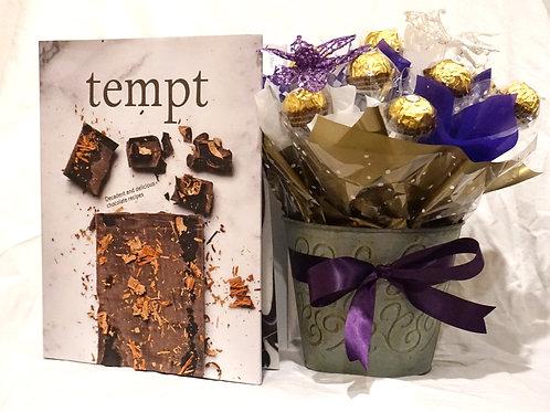 'Catherine' - Ferrero Rocher Decorative Tin with Tempt Book