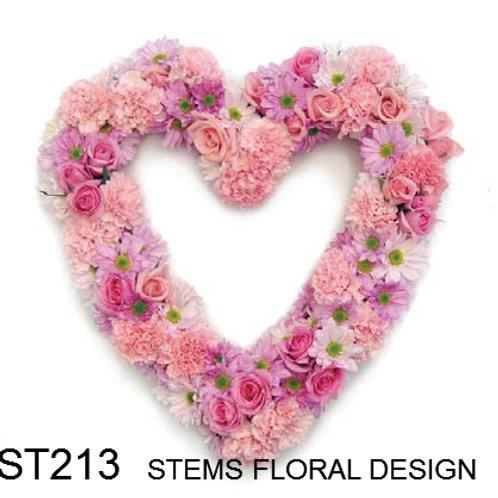 ST213 Open Heart - mixed pink