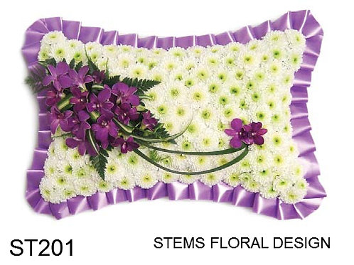ST201 Pillow - purple and white