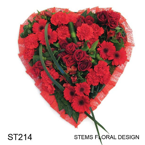 ST214 Padded Heart All Red