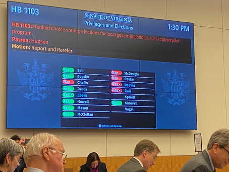 Ranked Choice Voting Bills Reported Out of Senate Privileges & Elections Committee!
