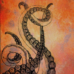 Instagram - My #tentacles #drawing after editing it with a #rust filter and #ink