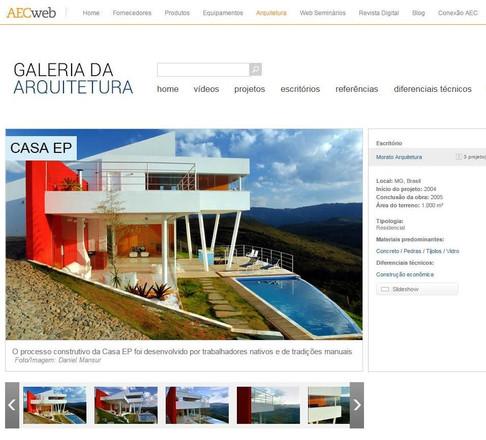 Casa EP em matéria do Portal Galeria da Arquitetura
