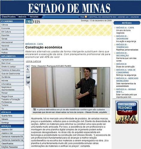 Ulisses Morato - Construção econômica Estado de Minas