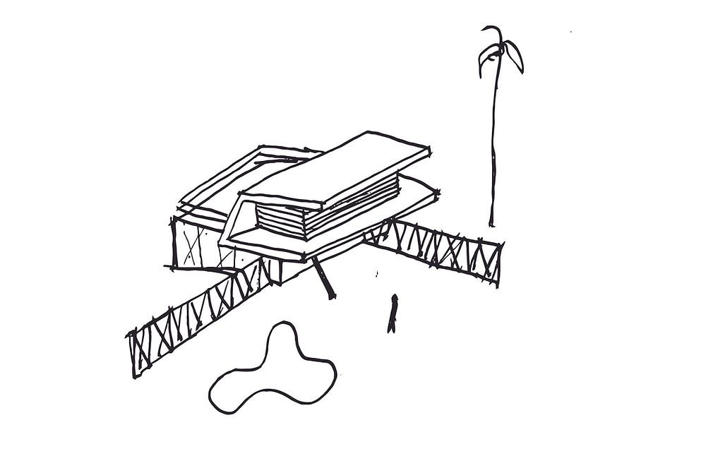 Croqui para criação de uma residência - Ulisses Morato