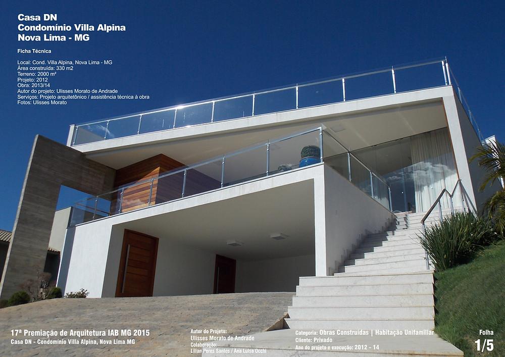 Casa DN - Prancha 01 - Menção Honrosa, IAB-MG 2015