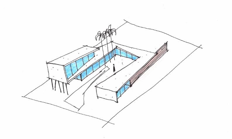 Croqui para criação de uma residência em Luanda - Ulisses Morato