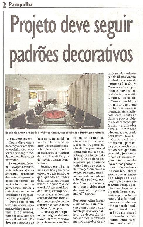 Ulisses Morato - Depoimento técnico no Jornal Pampulha