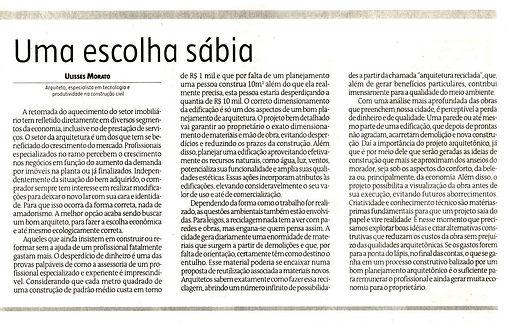 Ulisses Morato - Artigo Jornal Estado de Minas