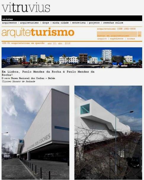 Portal Vitruvius - Ulisses Morato aborda projeto de Mendes da Rocha em Lisboa