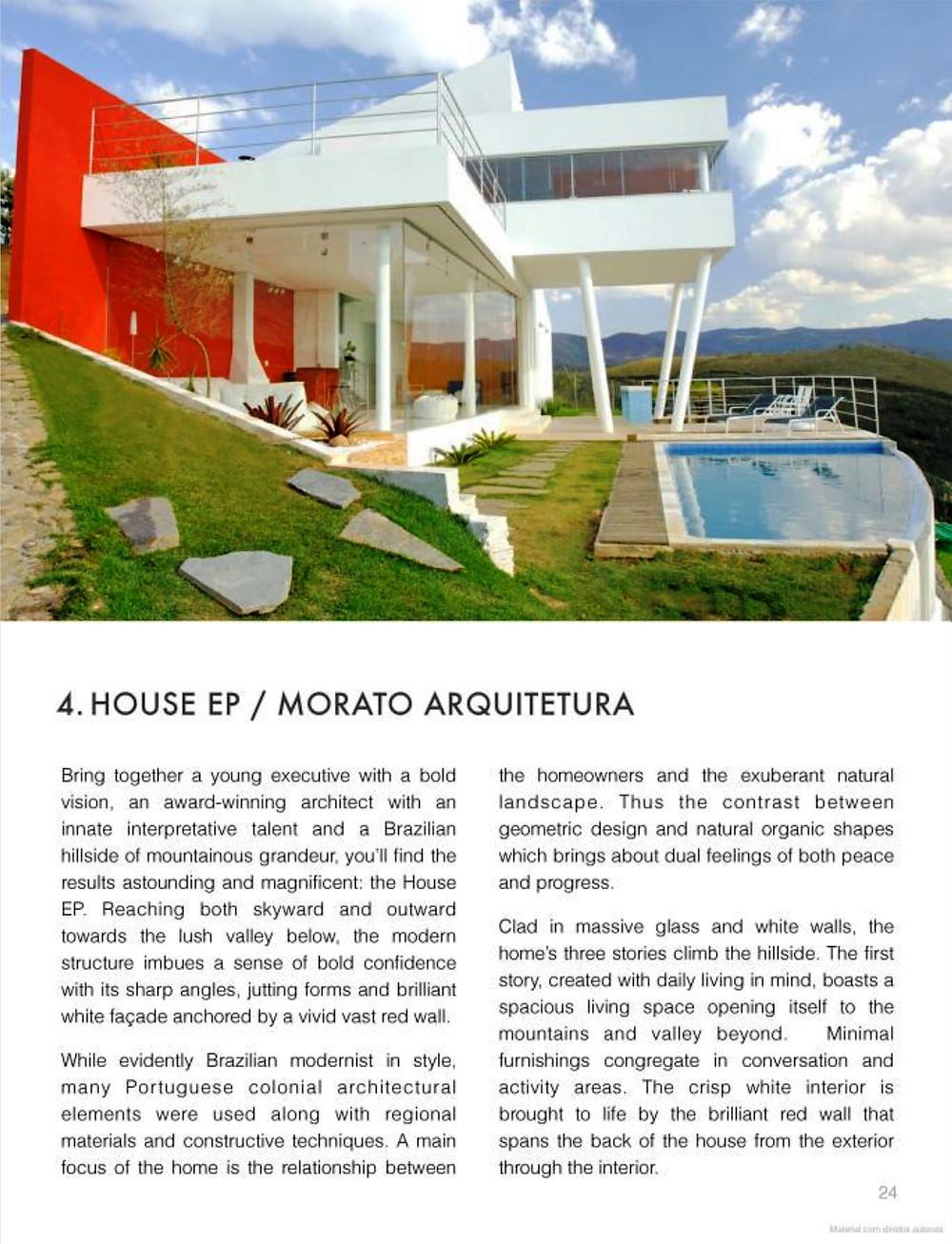 Publicação de projeto da Morato - Escritório de Arquitetura em Belo Horizonte - Book of Beatiful Homes