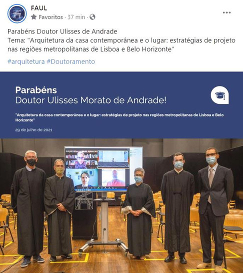 Ulisses Morato obtém o título de Doutor na Universidade de Lisboa