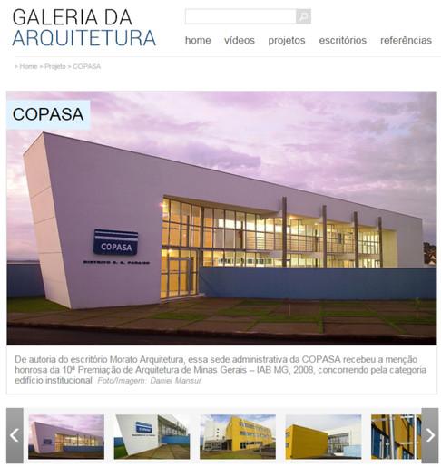 Sede Sudoeste COPASA no portal Galeria da Arquitetura