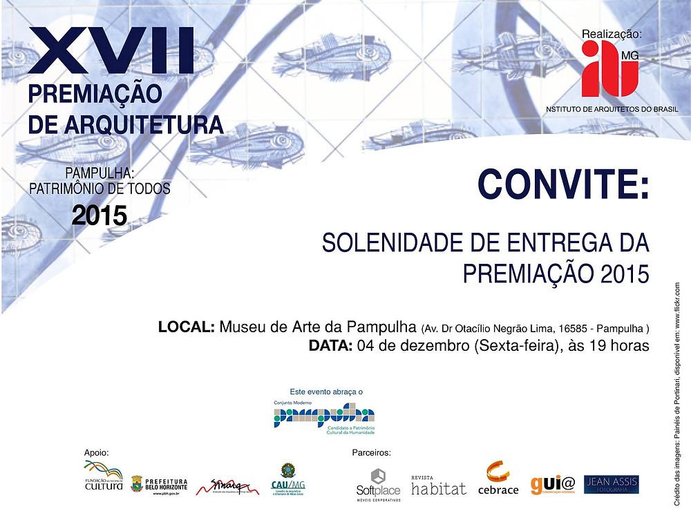 Convite Solenidade de Premiação | IAB-MG 2015