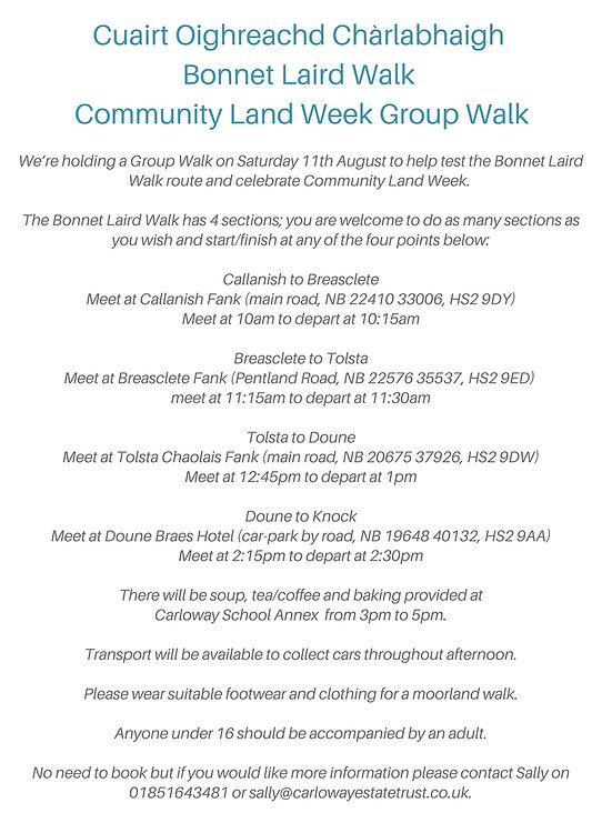 Community Land Week Information