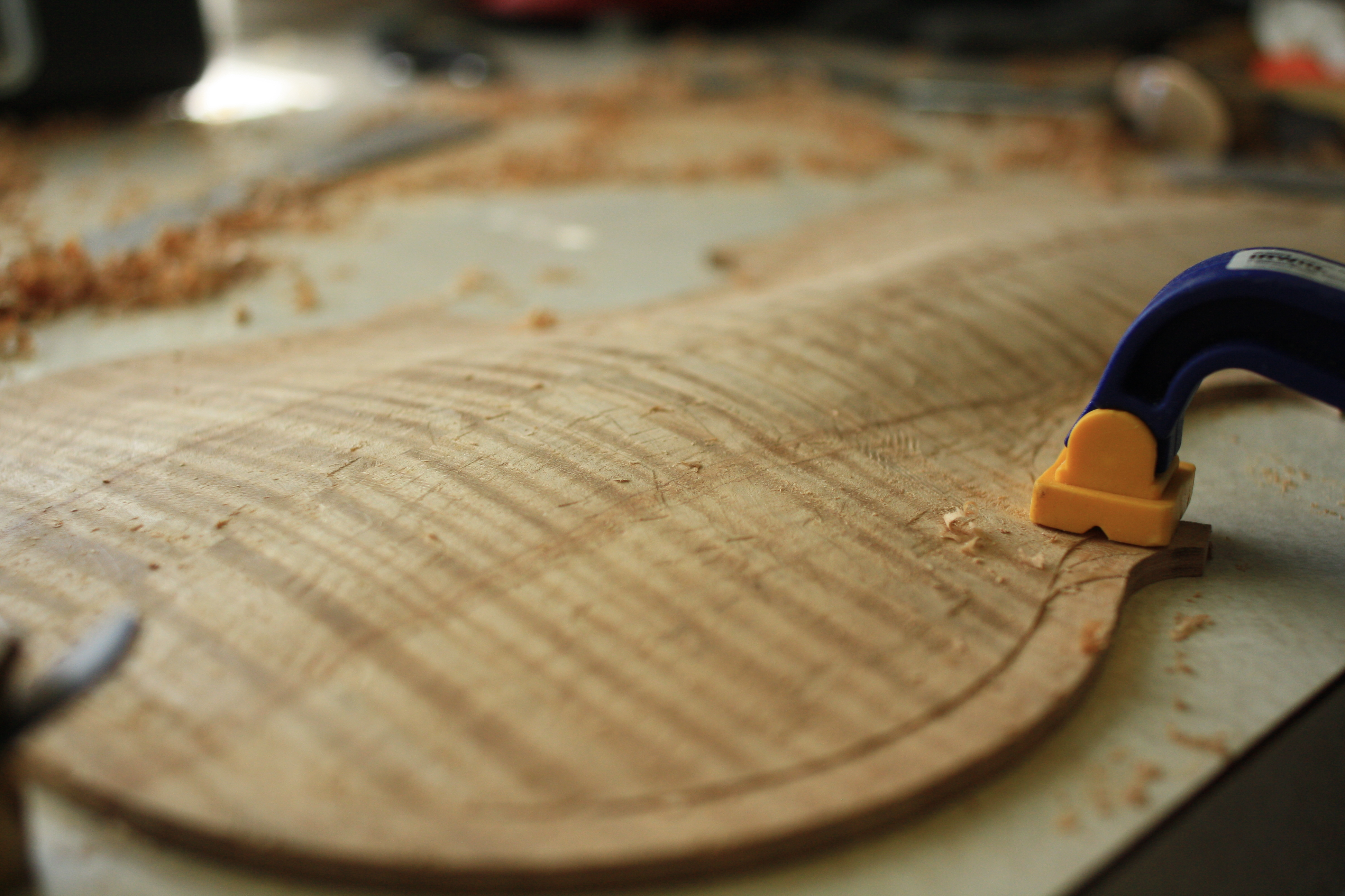 maple violin back final arching