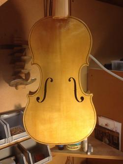 varnishing spruce violin top