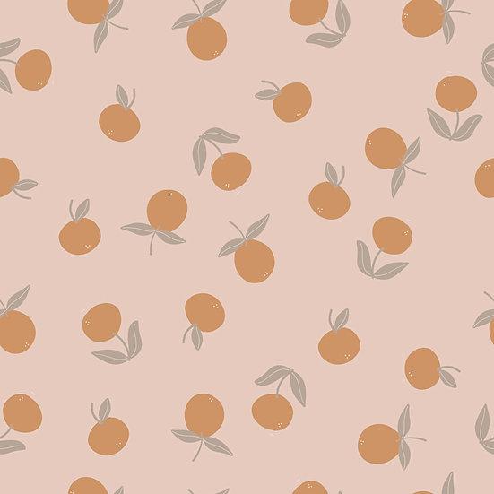 Petite Clementines Wallpaper 2X9 Feet