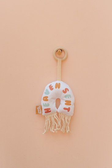 Heaven Sent Rainbow with Fringe Baby Rattle and Teether / Binky Babe