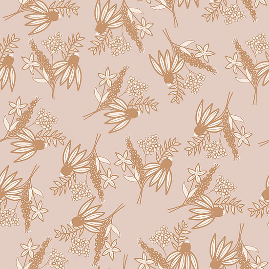 Muted Dainty Floral Wallpaper 2X3 Feet