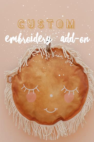 Custom Embroidery Add On