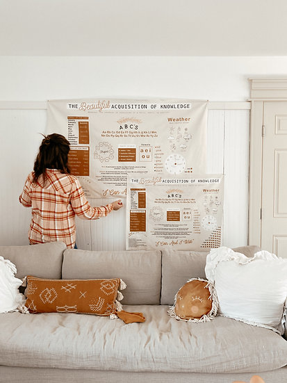 The Beautiful Acquisition of Knowledge Wall Tapestry