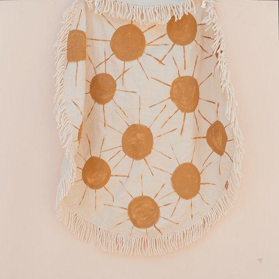 Sunshine Circle Fringe Picnic Blanket