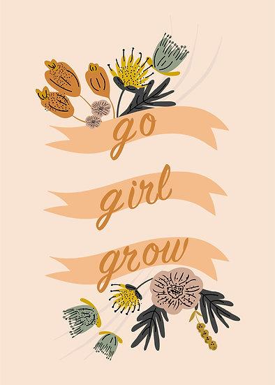 Digital Print at Home Go Girl Grow Banner Style