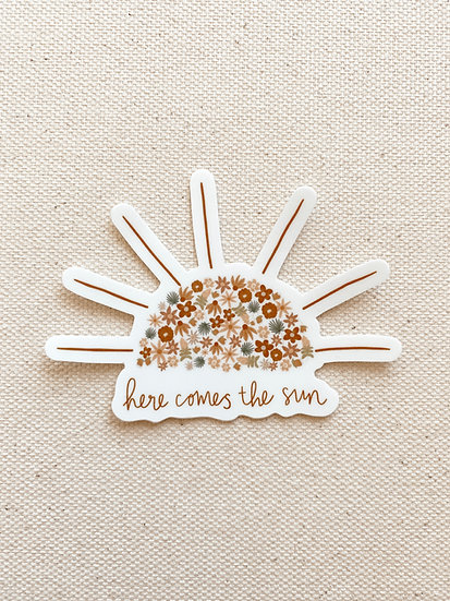Here Comes the Sun Floral Sticker