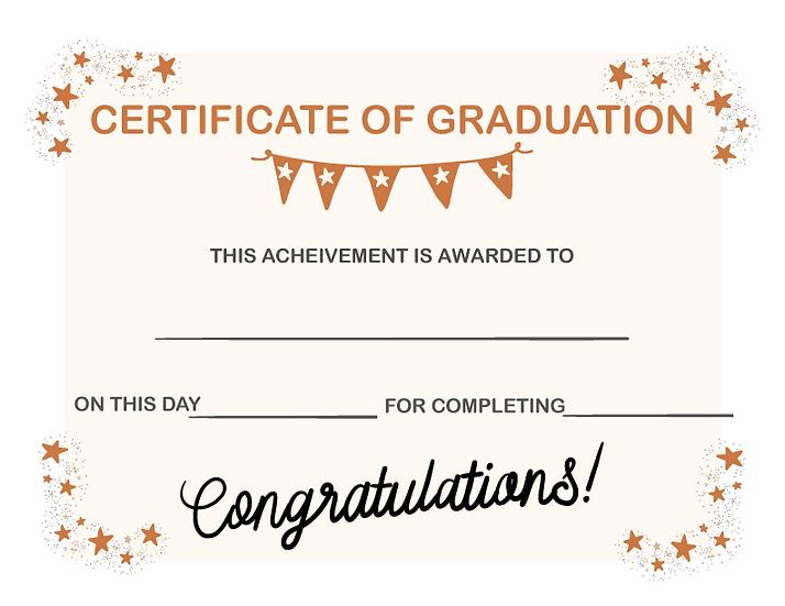 Graduation Certificate Printable