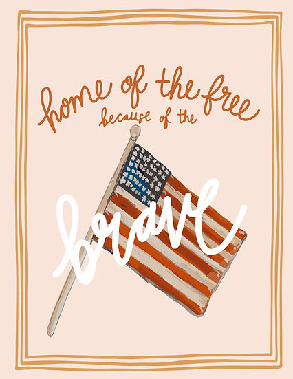 Digital Print at Home Home of the Brave