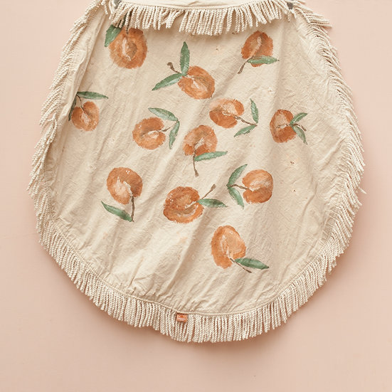 Peach Orchard Circle Fringe Picnic Blanket