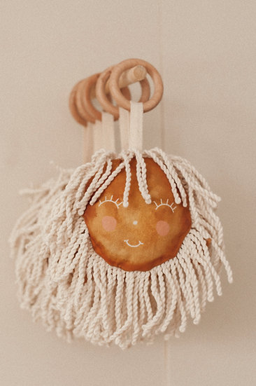 Vintage Sunshine Baby Rattle and Teether