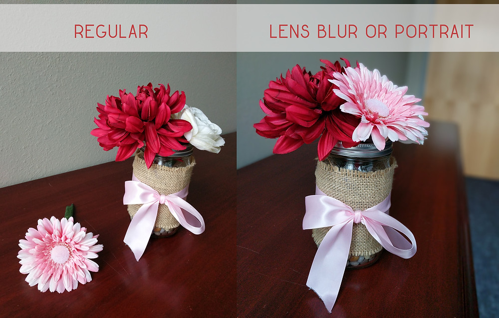 Example of smartphone lens blur or portrait mode feature