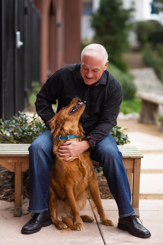 Man with dog, man's best friend