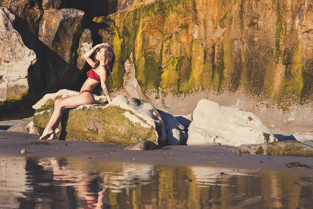 Beach model in carlsbad california