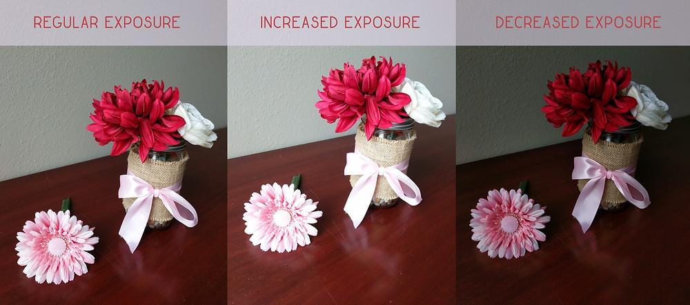 Example of exposure adjustment on smartphone