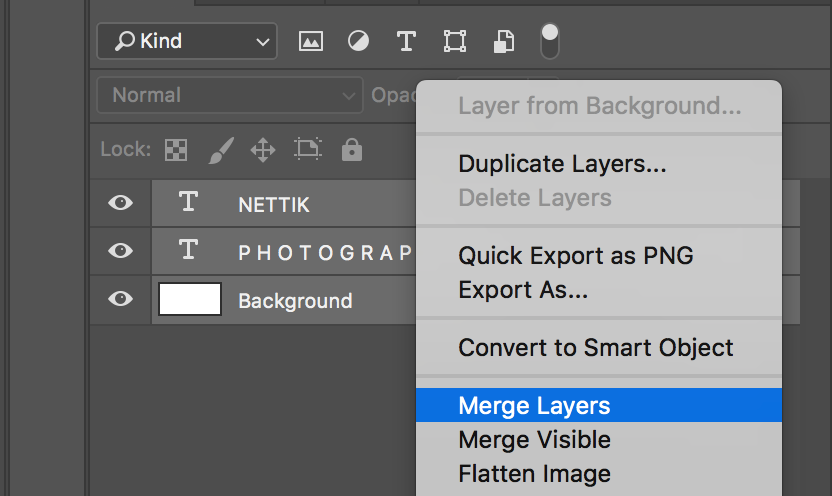Merge Layers Selection